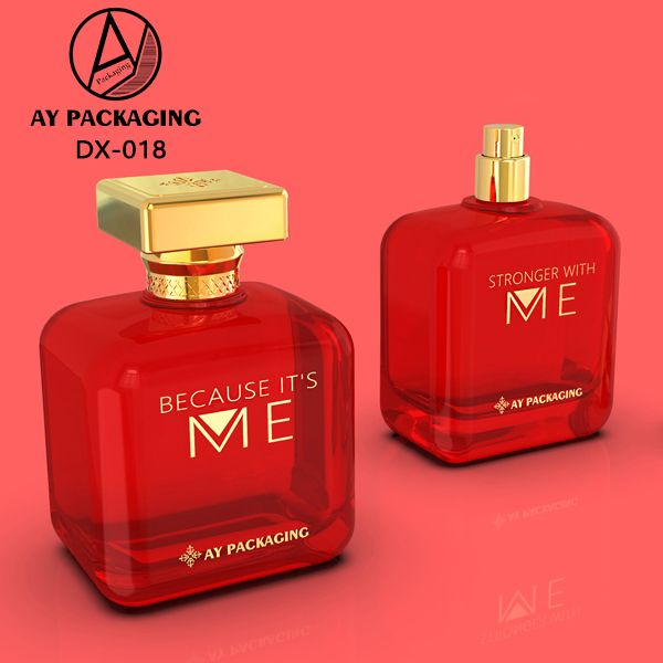 High Quality Glass Perfume Bottle With Printing Logo And